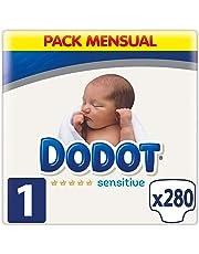 Dodot Sensitive - Pañales, 280 unidades, Talla 1 (2-5 kg)