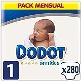 Dodot Sensitive - Pañales, 280 unidades, Talla 1 (2 - 5Kg)