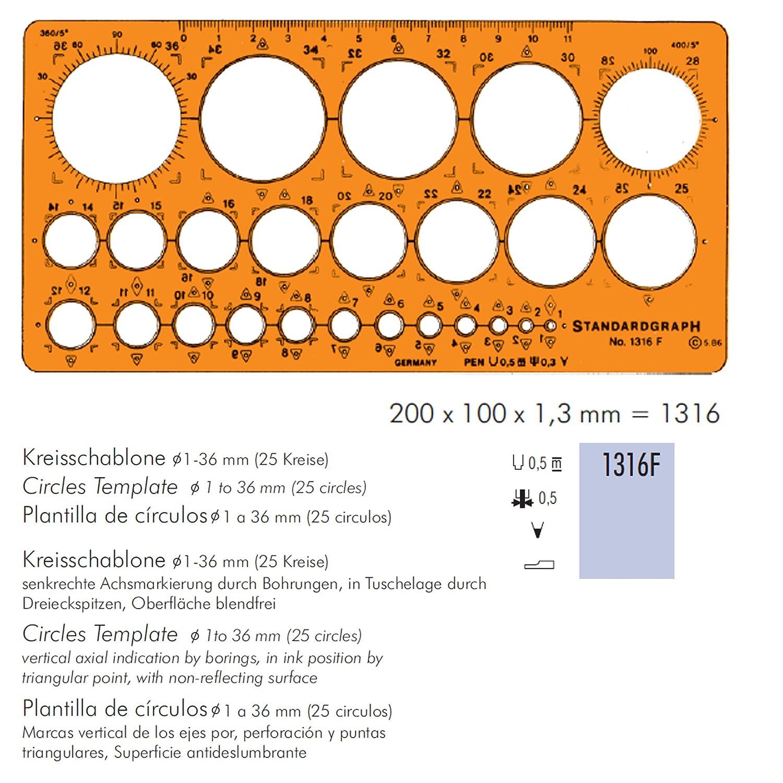 Schablone Kreisschablone 175x95x1,5: Amazon.de: Bürobedarf ...