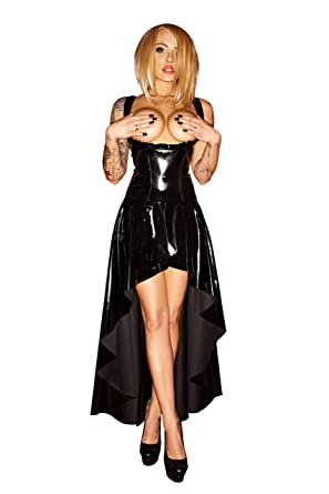 heißer Verkauf online hochwertiges Design Genieße den reduzierten Preis Noir Handmade Wetlook-Kleid lang F069 busenfrei Größe S ...