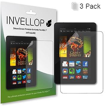 Amazon.com: INVELLOP Anti-Glare Screen Protector For Kindle Fire ...