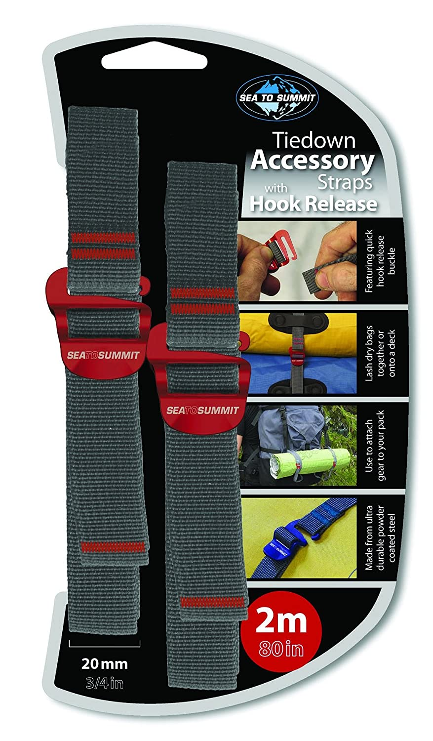 Sea to Summit Tie down straps with hook release Accessory