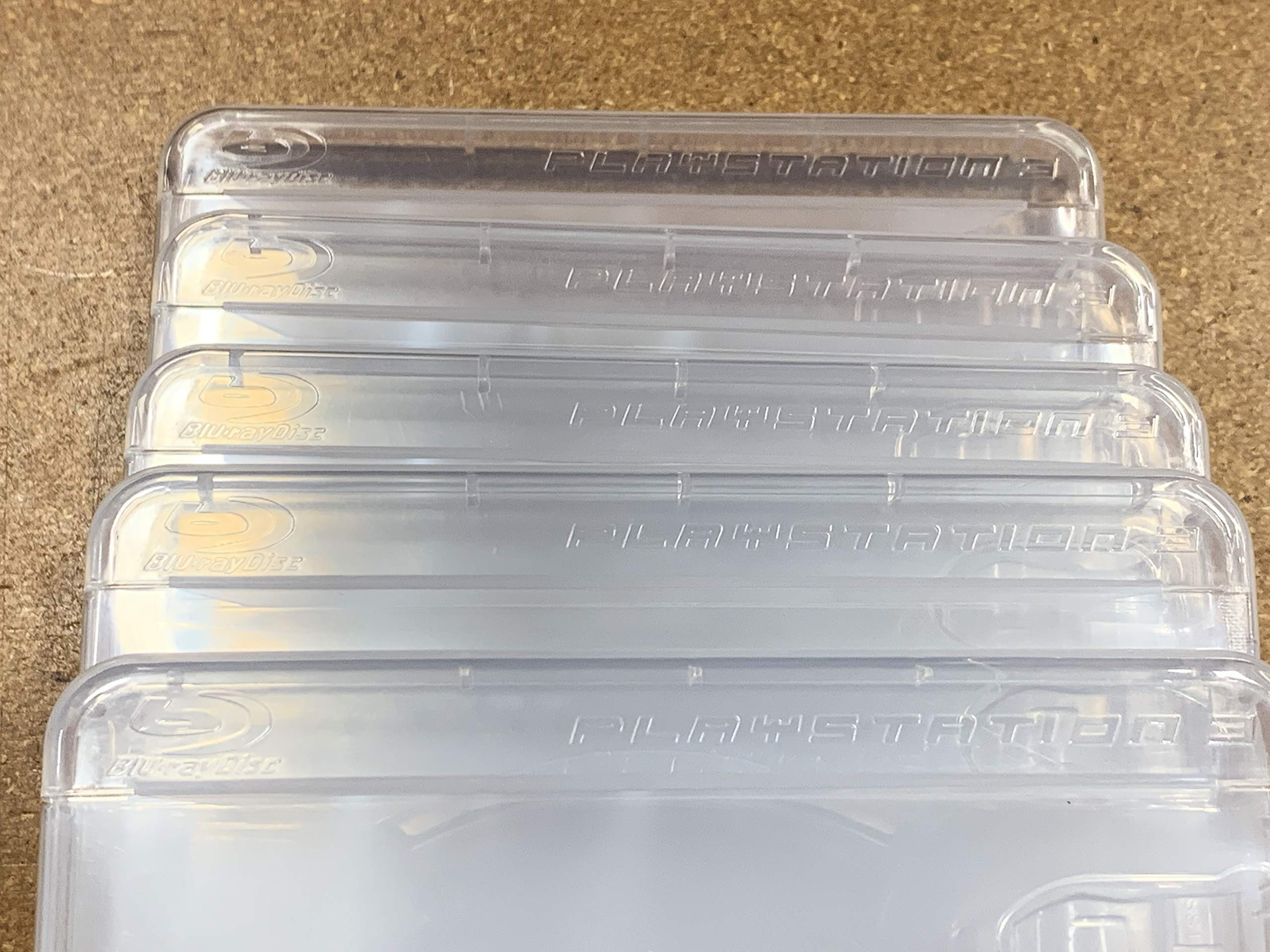 Pack of Five (5) Original Playstation 3 Replacement Game Cases w/ PS3 Logos