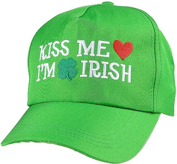 99c888c934a11 Amazon.com  Adults Saint Patrick s Day Kiss Me I m Irish Baseball ...