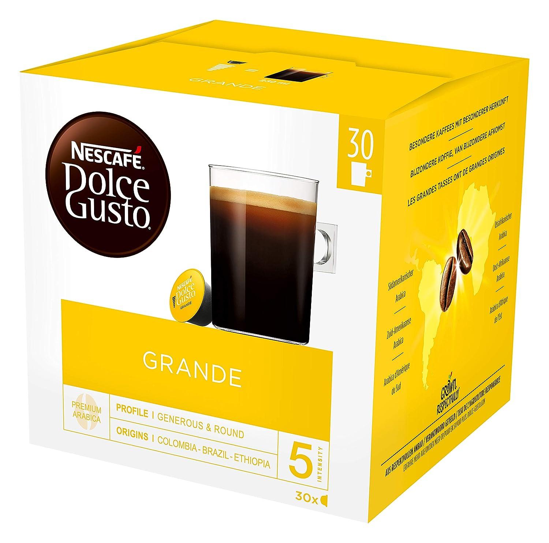 Nescafé Dolce Gusto Grande Cápsulas 30 Por Paquete (Paquete de 2 ...