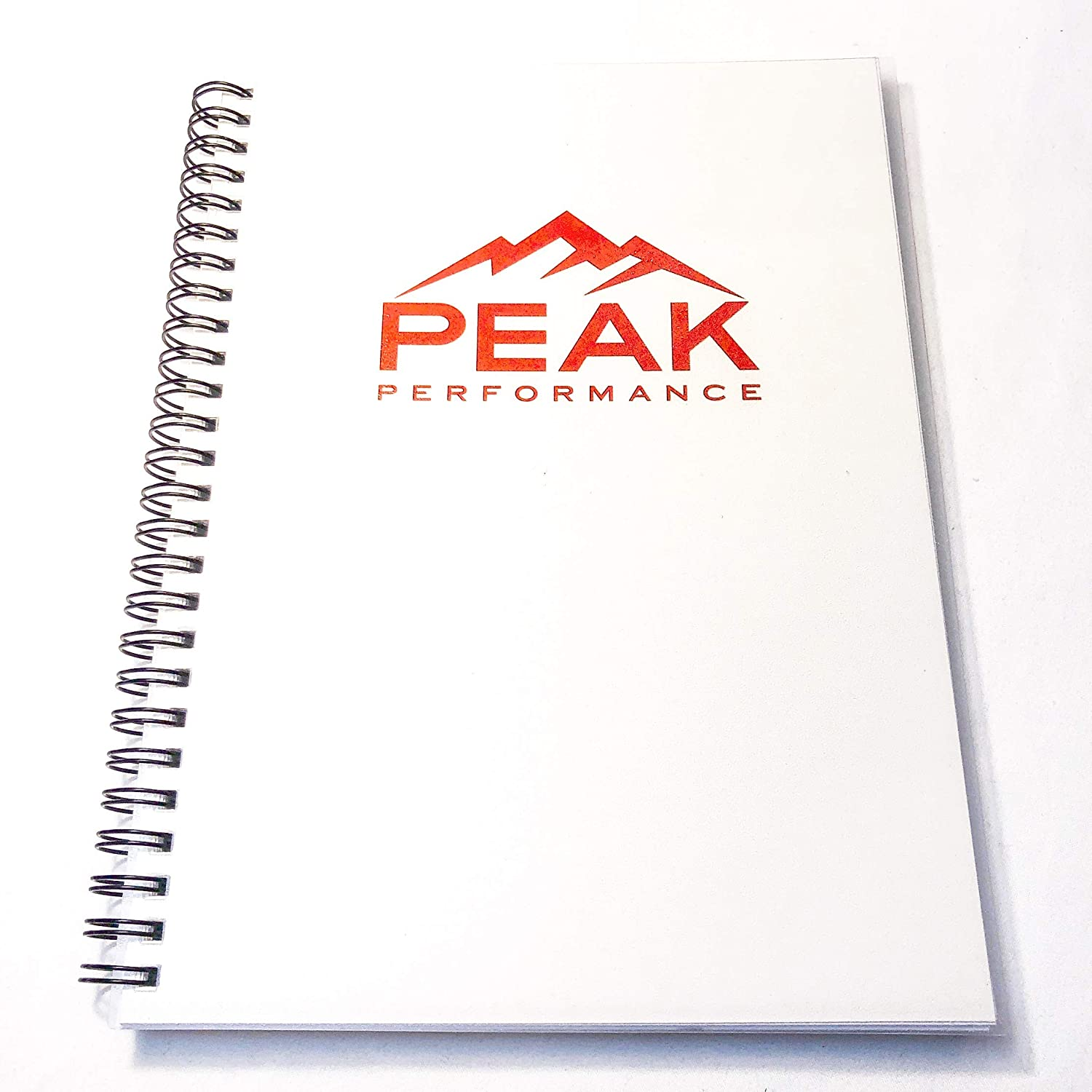 peak performance fitness planner workout log book designed by