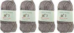 Lace Weight Tencel Yarn - Delightfully Fine - 60% Bamboo 40% Tencel Yarn - 4 Skeins - Col 10 Ash