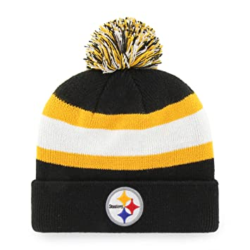 48b345de7da NFL Pittsburgh Steelers Rush Down OTS Cuff Knit Cap with Pom