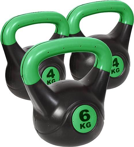 IQi Noz peso conjuntos, mango de polipropileno pesas para ejercicios de fitness/rosa/verde/negro 6KG Single & 4KG Two Pack - Green: Amazon.es: Deportes y aire libre