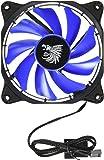Eagle Warrior 654862208762 Ventilador Halo para Gabinete con Tubo de LED, color Azul, 12cm