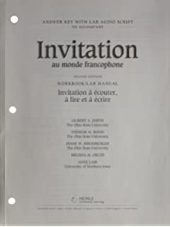 Amazon invitation au monde francophone with audio cd world answer key with lab audioscript for invitation au monde francophone 2nd stopboris Images