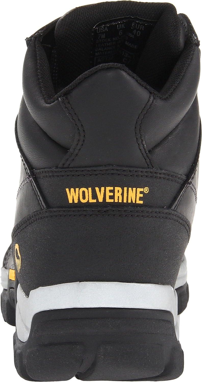 Wolverine Lobezno Hombres de Asfalto Botas de Trabajo, Color Negro, Talla 44 EU M: Amazon.es: Zapatos y complementos
