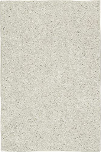 Ambiant Saturn Collection Pet Friendly Area Rug Off White – 8 x10