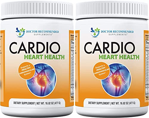 Cardio Heart Health-L-Arginine Powder Supplement-5000mg Plus 1000mg L-Citrulline-with Minerals, and Antioxidants Vitamin C E-Total Cardiovascular System Health Pack of 2