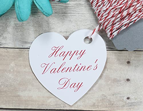 Die Cut Wish Tree Hearts Set of 30 Happy Valentines Day Heart Gift Tags