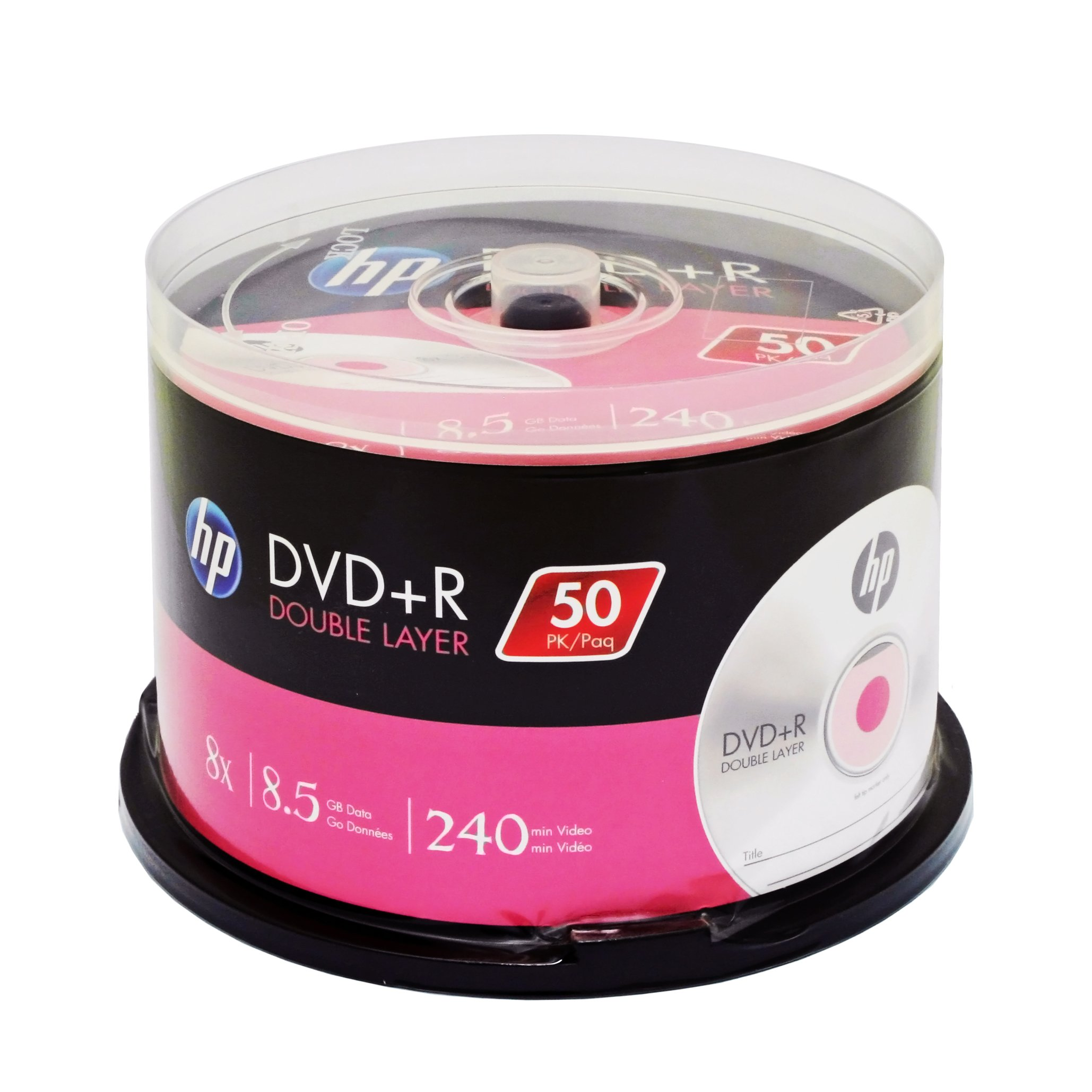 HP DVD+R DOUBLE LAYER BRANDED 8X 8.5GB 240min Video