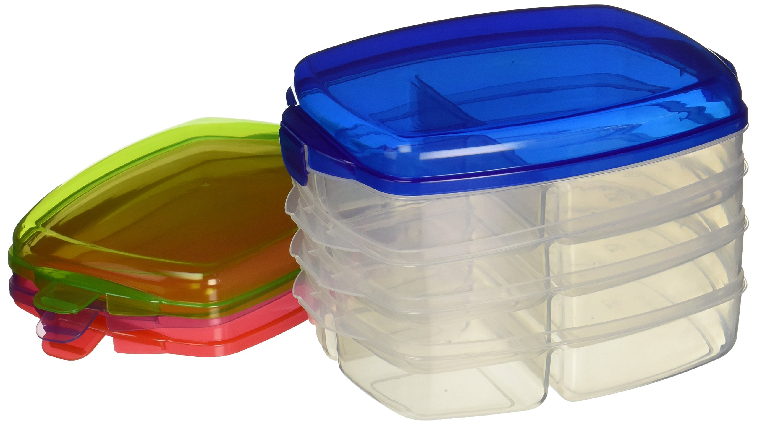 Lunch Box - Large Plastic Bento Boxes, Lunch Boxes Set of 4 - (NON Leakproof - lunchboxes)