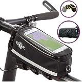 BTR Deluxe Fahrrad-Tasche und Handy-Halterung Lenkertasche, Fahrrad Rahmentasche Wasserdicht. Fahrradtasche fur iPhoneX, iPhone 6s, iPhone 7, iPhone8, iPhone 6 Plus, 7 Plus, 8 Plus, Samsung S7, S8, S9, S7 Edge, S7 Plus, S8 Plus, S9 Plus.