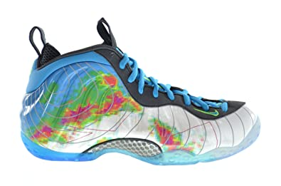1eaeb232646 Nike Air Foamposite One Premium Weatherman Men s Basketball Shoes  White Current Blue-Flash Lime