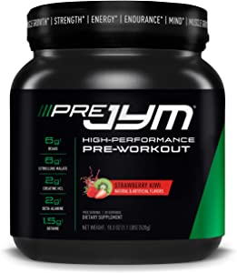 Pre JYM Pre Workout Powder - BCAAs, Creatine HCI, Citrulline Malate, Beta-Alanine, Betaine, and More   JYM Supplement Science   Strawberry Kiwi Flavor, 20 Servings