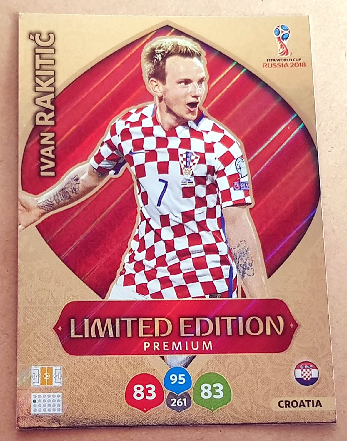 Adrenalyn XL FIFA World Cup 2018 Russland – Ivan Rakitic Premium Limited Edition Trading Card – Kroatien