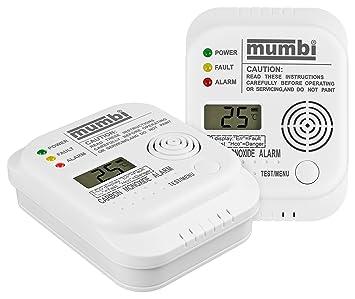 mumbi CO102 CO detector de monóxido de carbono detector de gas: Amazon.es: Bricolaje y herramientas