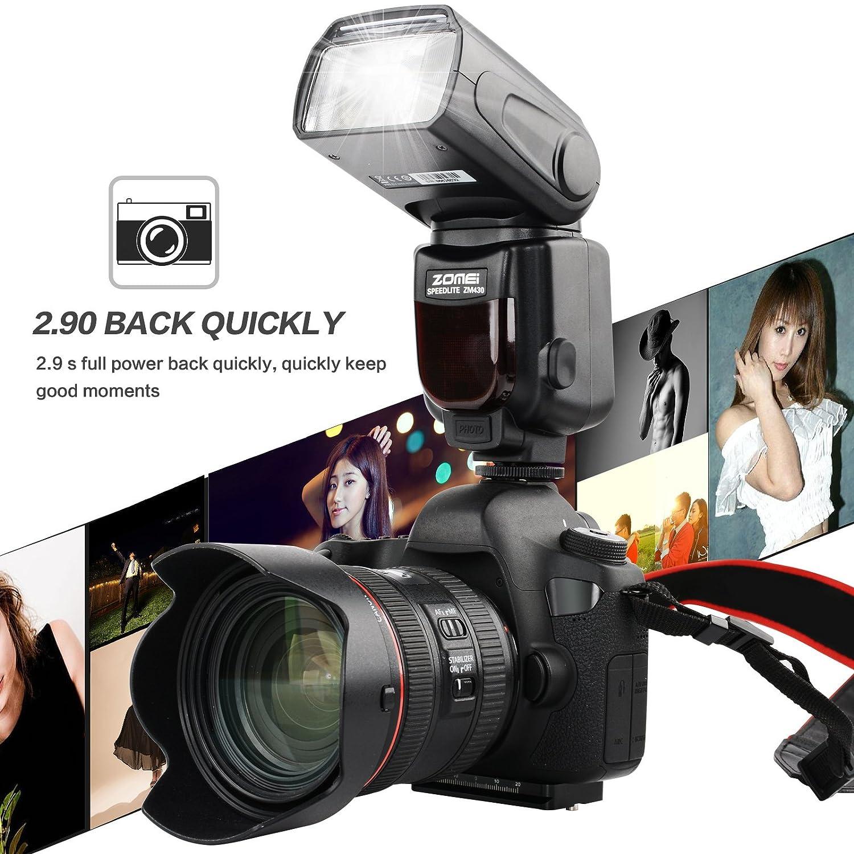 550D for Canon 1100D 70D 650D 1200D 6D 7DII 5DIII 7D 600D 350D GN60 NOT suitable for Canon 1D II, 1Ds II, 1D, 5D, 1000D 5D II 700D MT600C High Speed Sync 1//8000s E-TTL Slave On-Camera Flash Speedlite 60D Kaavie//Mcoplus 500D//T1i
