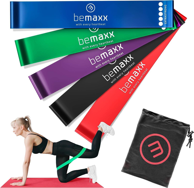 Bandas Elásticas en Bucle Set/Cintas de Resistencia + eBook Guía de Ejercicios   Natural Loop Glúteos Bands, Fitness Gimnástica Gluteband Gomas Crossfit Fisioterapia Boxeo Pilates Yoga