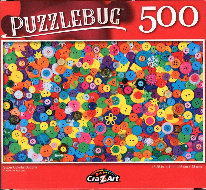 Puzzlebug 500 Piece Jigsaw Puzzle ~ Rainbow Fruits and Veggies