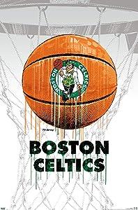 Trends International NBA Boston Celtics - Drip Ball 20 Wall Poster, 22.375
