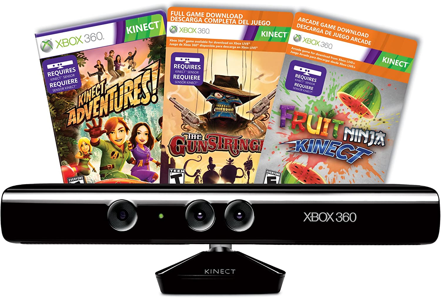 Amazon.com: Kinect Sensor with Kinect Adventures and ...