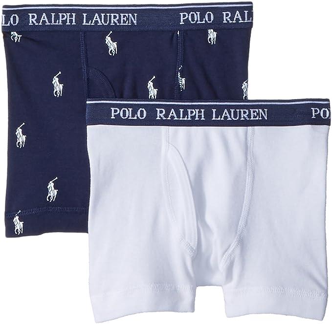 Amazon.com: Polo Ralph Lauren Kids Mens 2-Pack Boxer Briefs (Little  Kids/Big Kids): Clothing