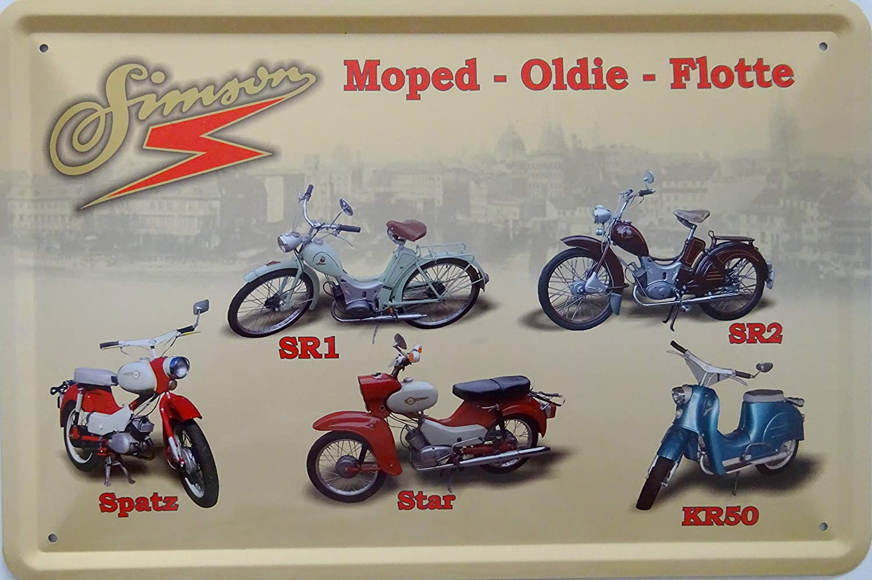 Simson Moped Flotte Ddr Blechschild 20x30 Cm Schild Sign Blechschilder Sr1 Sr2 Spatz Star Kr50 Ostalgie Auto