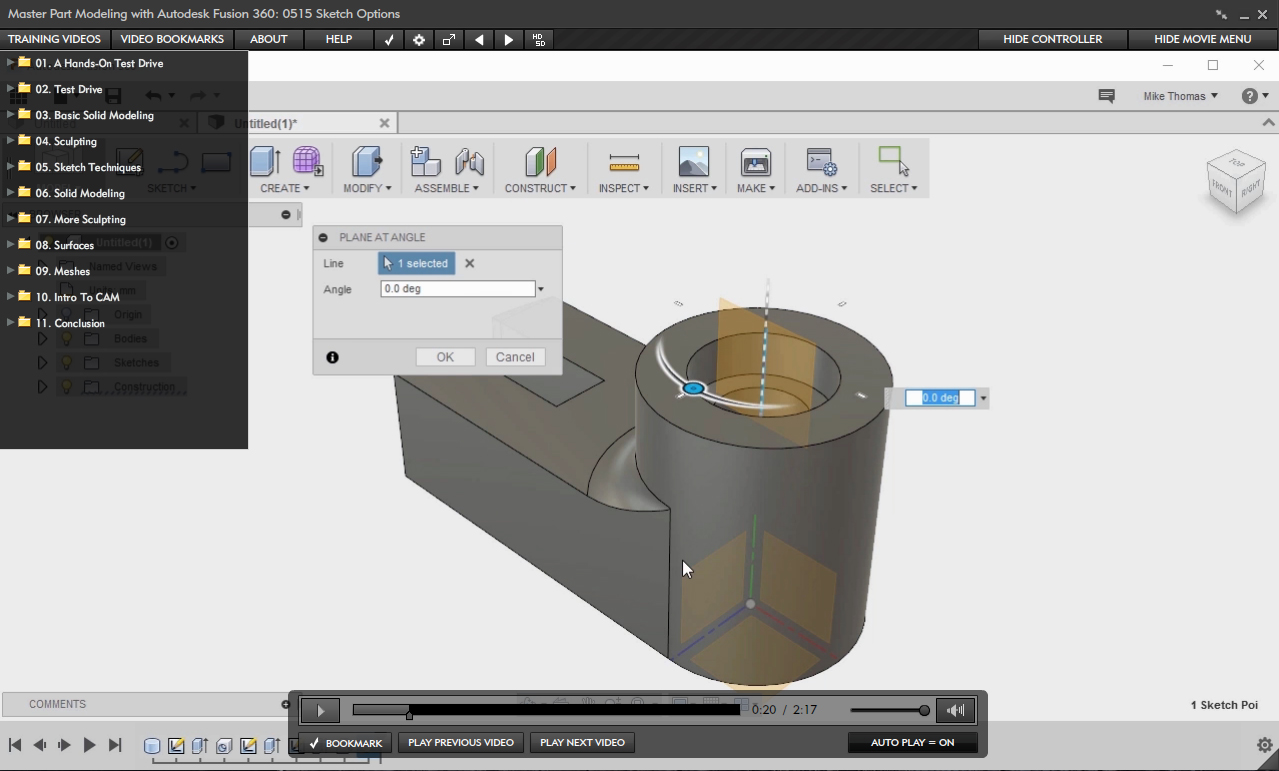 Master Part Modeling with Autodesk Fusion 360 [Online Code]