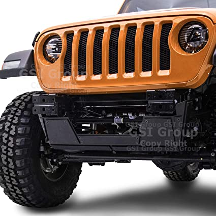 Black Front Bumper Extreme HD Double Plate Skid Plate for 18-19 Jeep JL Wrangler