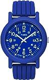 Timex - T2N717AU - Timex Urban Camper - Montre Mixte - Quartz Analogique - Cadran Bleu - Bracelet Silicone Bleu