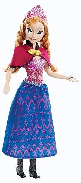 disney princesses y9966 poupe mannequin la reine des neiges anna lumineuse et