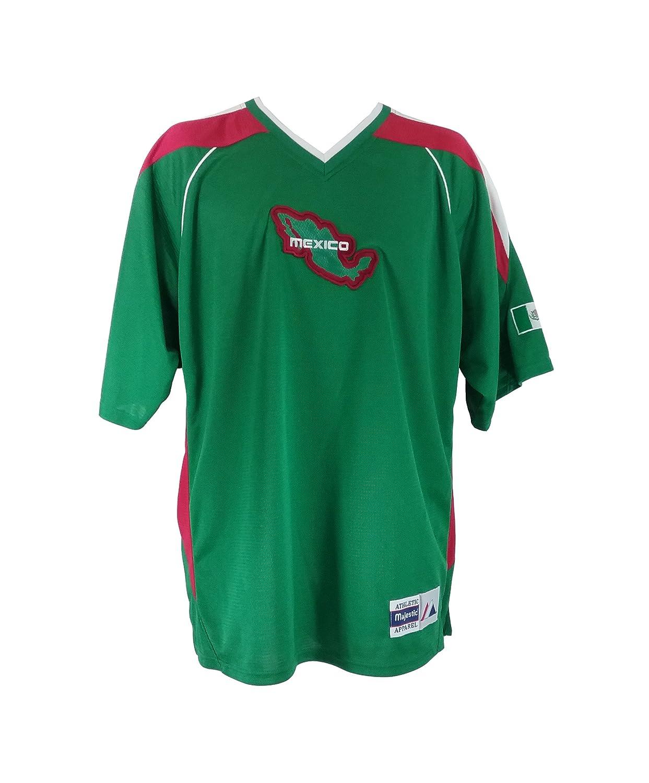マジェスティックメンズメキシコサッカーチームグリーンJersey B01MD0SWLSM