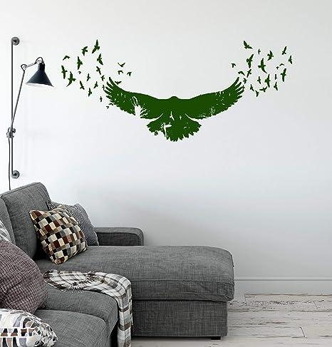 Raven Wall Decal Bird Crow Vinyl Sticker Animals Wall Art Decor Home Interior Room Office Design 9 etn