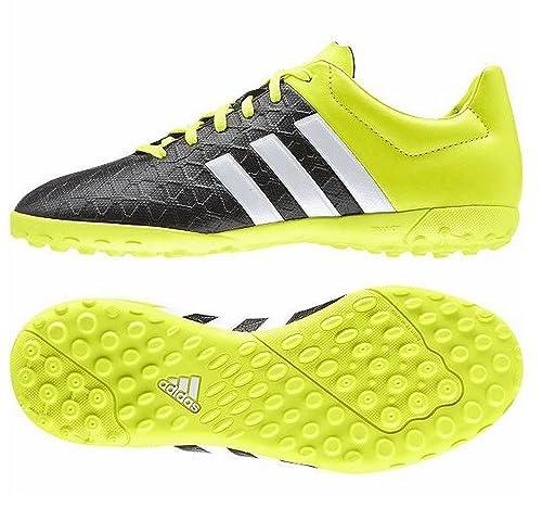Adidas ACE 15.4 TF J, Black / Lime / White, 3 UK