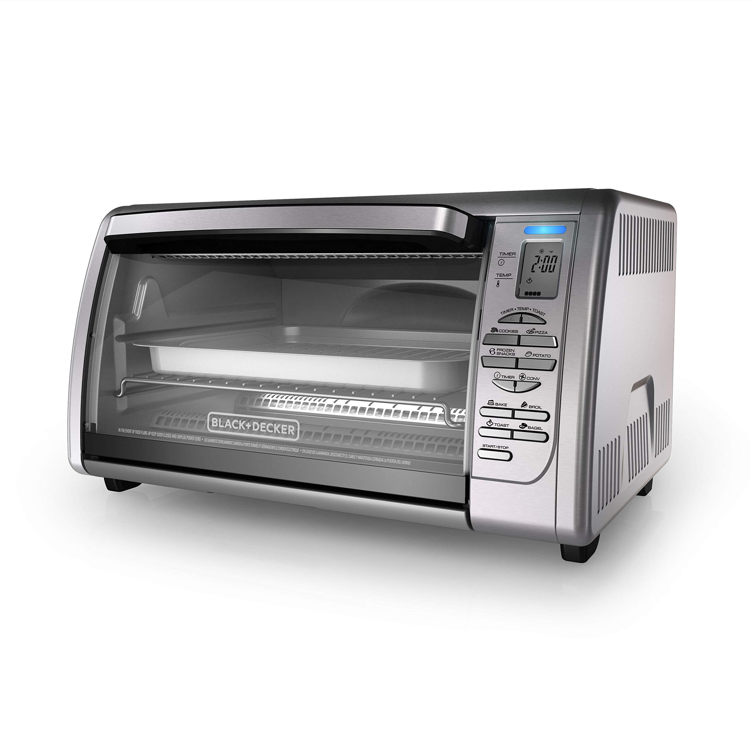 BLACK+DECKER Countertop Convection Toaster Oven, Silver, CTO6335S by BLACK+DECKER