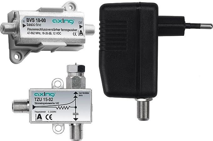 1 opinioni per Axing BVS 10-01 Set di Amplificazione Composto da Amplificatore BVS 10-00,