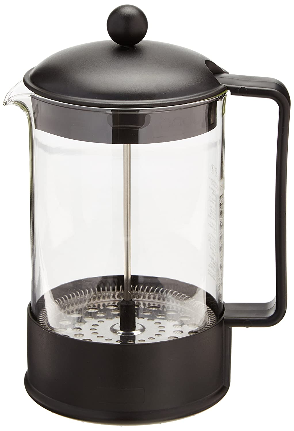 Bodum BRAZIL Coffee Maker, French Press Coffee Maker, Black, 51 Ounce (12 Cup)
