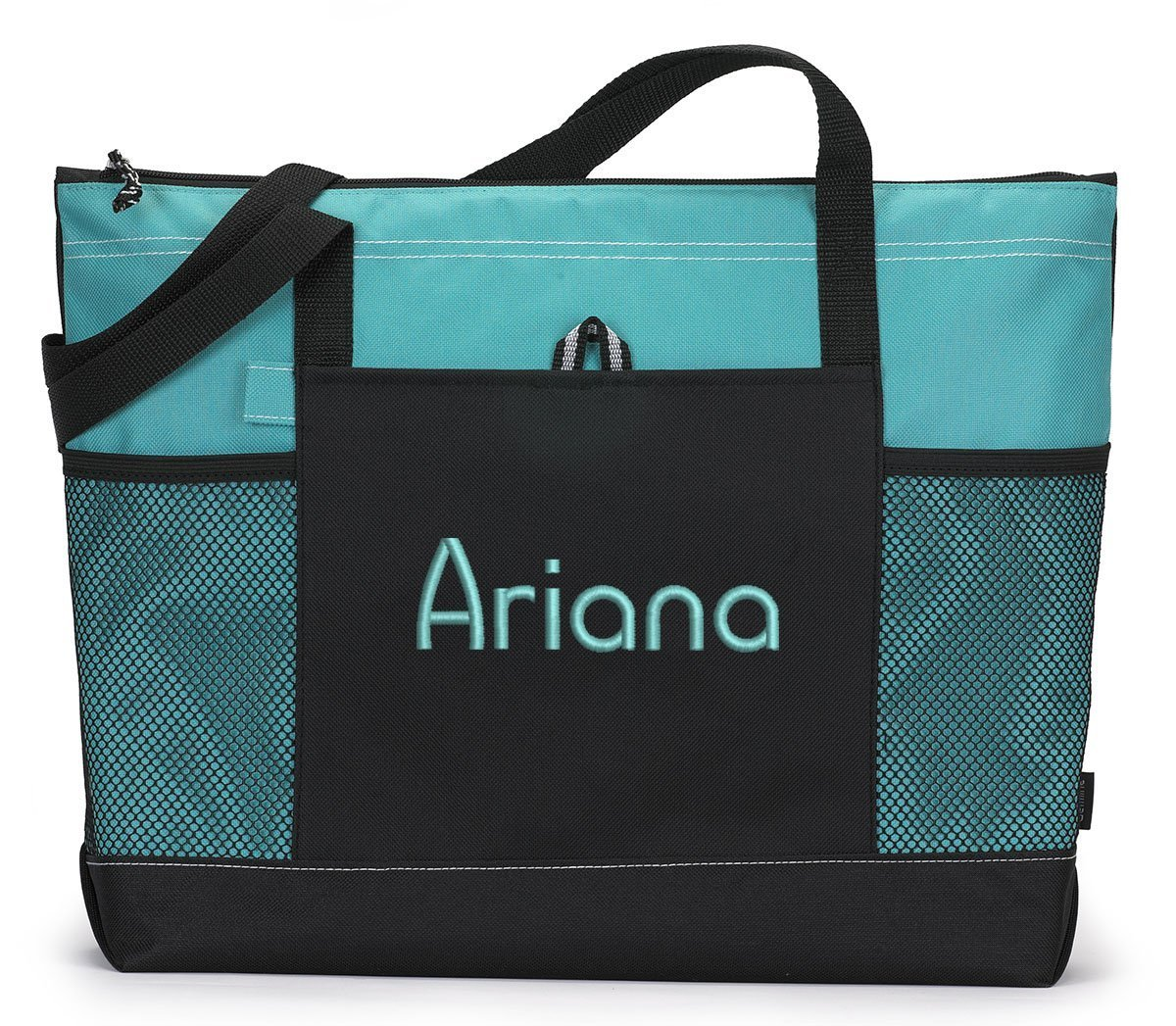 Name Personalized Embroidered Tote with Monogram