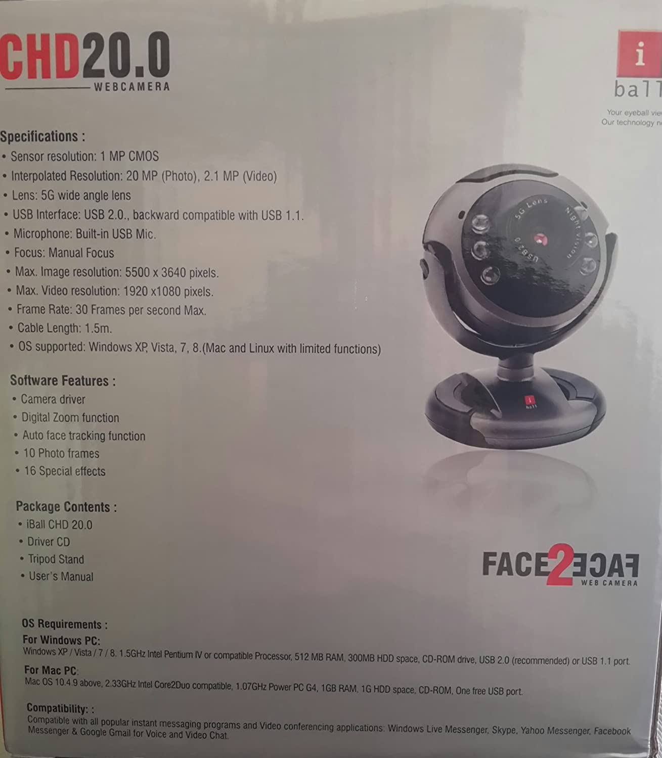 IBALL FACE2FACE C1.3 DOWNLOAD DRIVERS