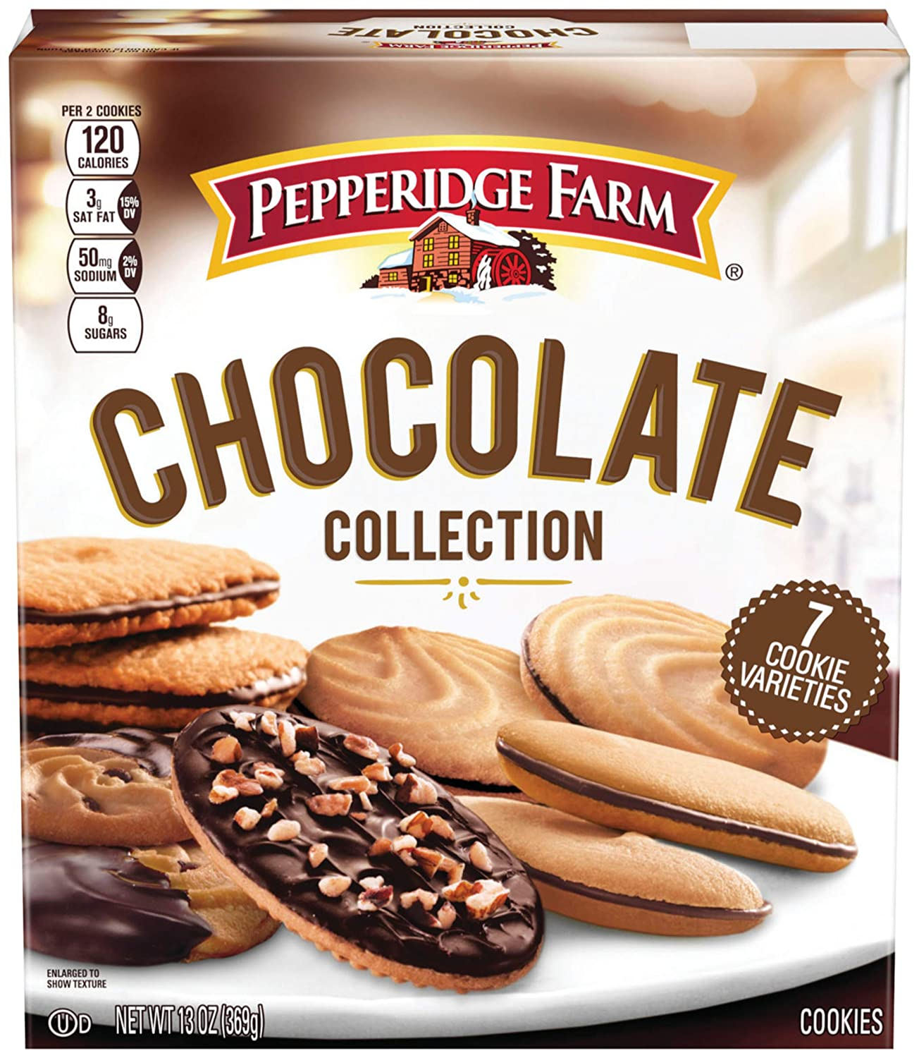 Pepperidge Farm Cookies Chocolate Collection 7 Cookie Varieties 13 Oz Box Amazon Com Grocery Gourmet Food