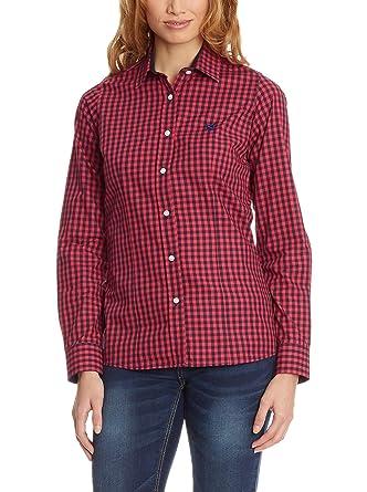 POLO CLUB Camisa Mujer Checks Rojo XS: Amazon.es: Ropa y accesorios