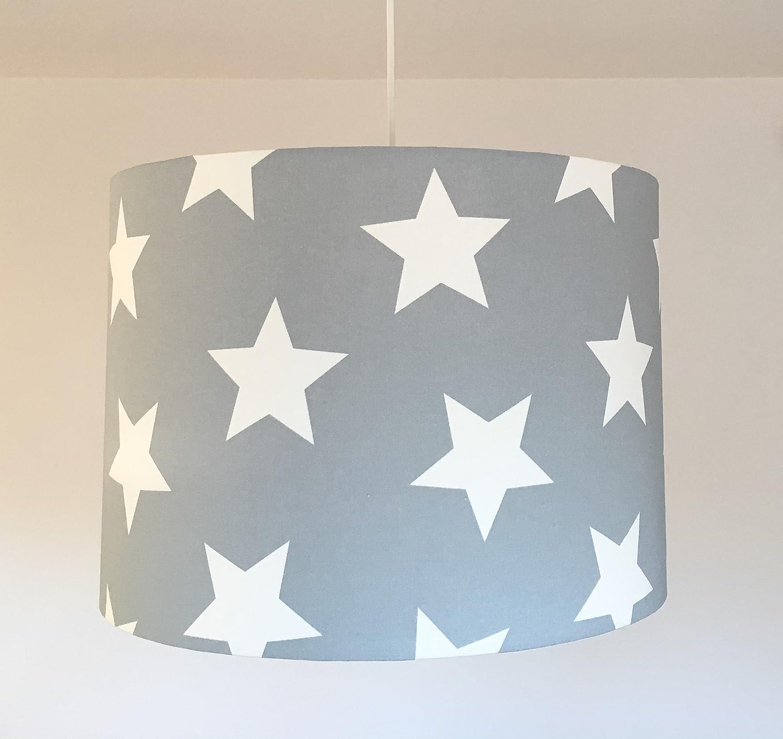 Kinderzimmerlampe Deckenlampe Kinder Sterne grau