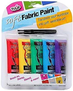 Tulip 29375 Soft Fabric Paint, 5-Pack
