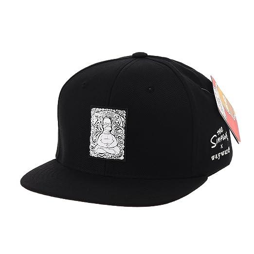 f0cbdb5c154 WITHMOONS The Simpsons Baseball Cap Buddha Simpson Snapback Hat HL2756  (Black)